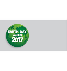 Earth day banner lettering vector