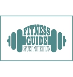 Fitness guide text Gym and Fitness relative image vector image vector image
