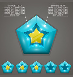 five stars ratings with vector image