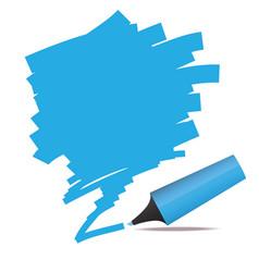 highlighter pen vector image vector image