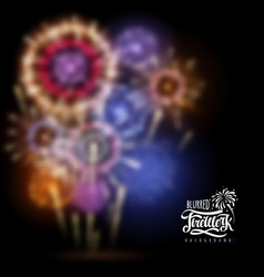 holiday firework blurred background vector image vector image