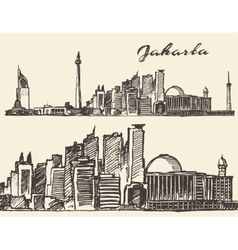 Jaipur hand drawn sketch vector image vector image