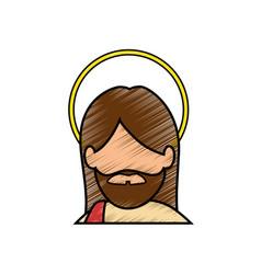 Jesus christ icon vector
