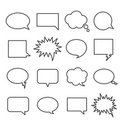 line speech bubbles vector image vector image