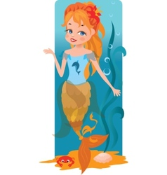 little mermaid vector image vector image