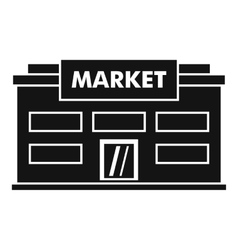 Market icon simple style vector image vector image