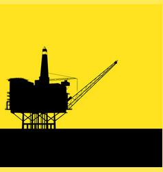 Offshore refinery vector