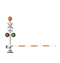 Railway warning sign vector