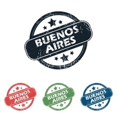 Round buenos aires stamp set vector