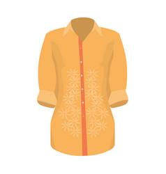 stylish orange shirt for women women dressed in vector image
