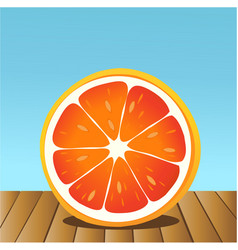 summer grapefruit vector image vector image
