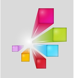 three dimensional squares vector image vector image