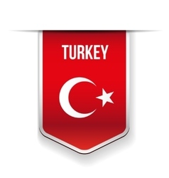 Turkey flag ribbon vector