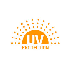 Uv protection icon isolated anti sun vector