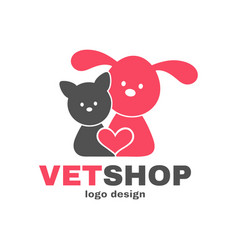 Vetshop logo design templete vet shop vector