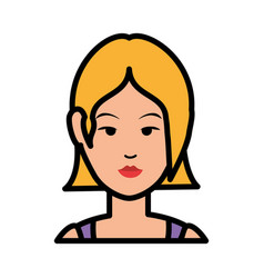 Woman cute cartoon vector