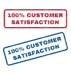 100 percent customer satisfaction rubber stamps vector