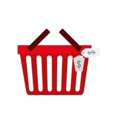Shopping basket commerce consumerism icon vector