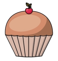 Muffin cartoon dessert design vector