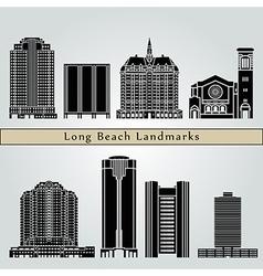 Long beach landmarks and monument vector