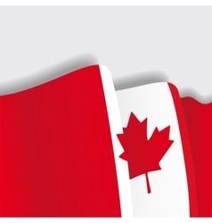 Canadian waving Flag vector image