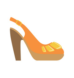 Slingback female shoe on platform isolated vector