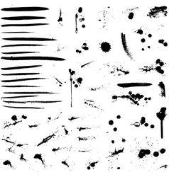 Abstract background ink paint splats vector