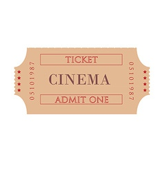 Cinema ticket vector