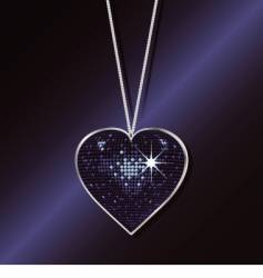heart necklace vector image