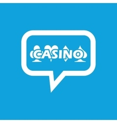 Casino message icon vector