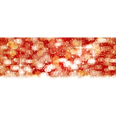Red abstact background blown out lights vector image