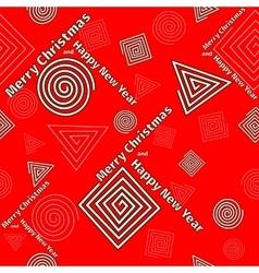 Festive pattern of geometric shapes vector image