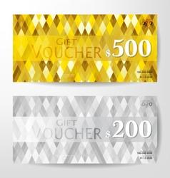 gift vouchers vector image