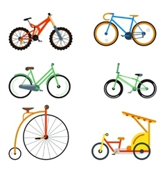 Bicycle flat style isolated on white background vector