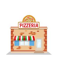 cartoon pizzeria flat vector image