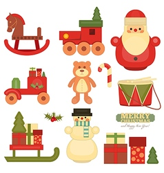 Christmas objects on wnite vector