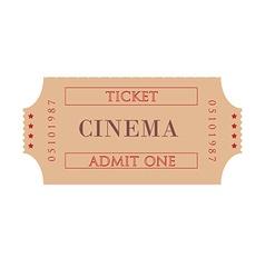 Cinema ticket vector