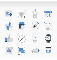 Creative flat ikon set vector