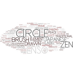 Enso word cloud concept vector