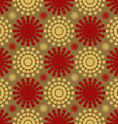 Flowers abstract pattern of circles vector image vector image