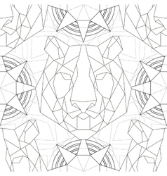 Geometric pattern tiger head trendy line design vector image vector image