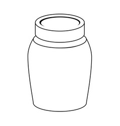 glass jar isolated icon vector image