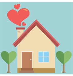 House of heart vector