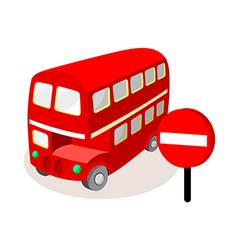 icon bus vector image vector image