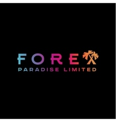 Logo forex paradise palm trees corporate instead vector