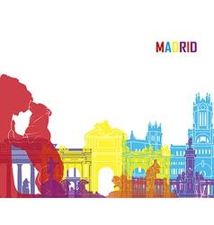 Madrid skyline pop vector