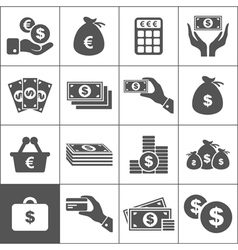 Money an icon vector image vector image