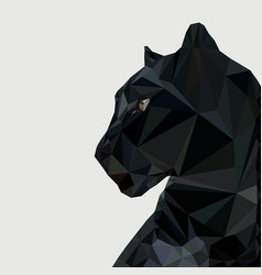 panther in low vector image