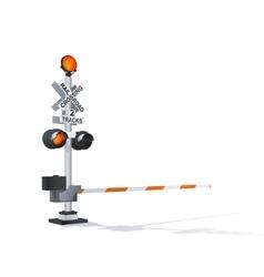 Railroad traffic warning vector