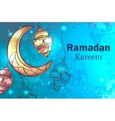 Ramadan kareem greetings background vector